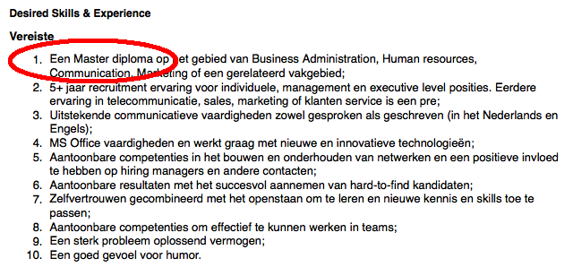 Corporate Recruiter gezocht