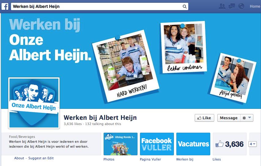 Facebook Werken bij Albert Heijn