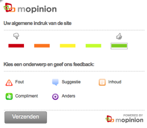 Feedback knop recruitmentsite